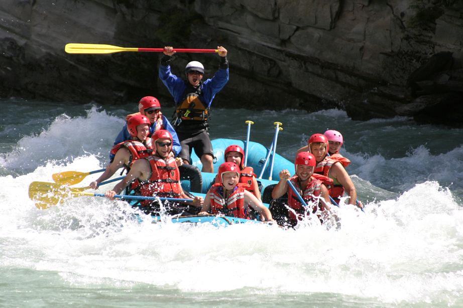 group rafting school mount robson whitewater